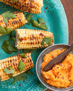 Grilled Corn with Honey-Sriracha Butter.