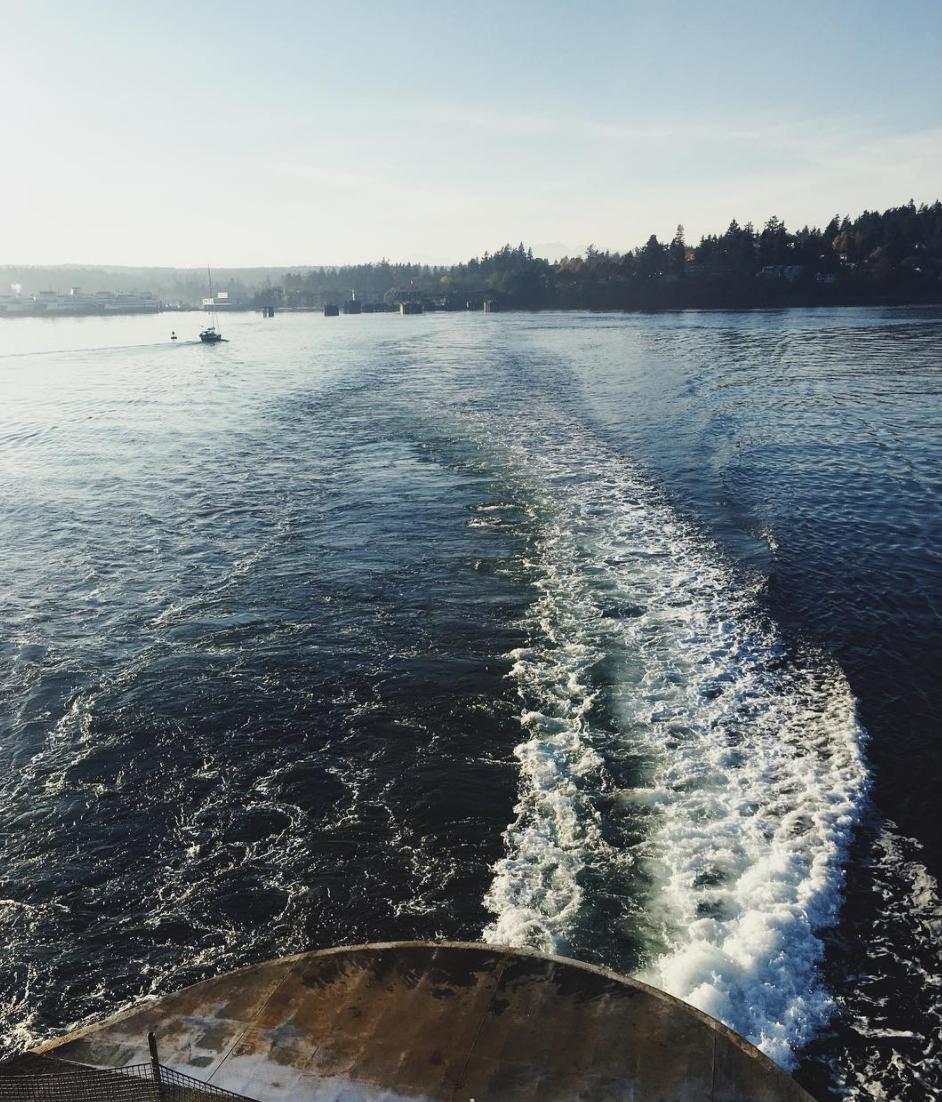 Ferry boat leaving my Bainbridge Island (hometown).