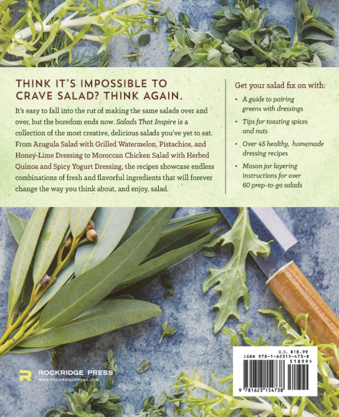 Salads That Inspire Back Cover by Food Photographer Shannon Douglas