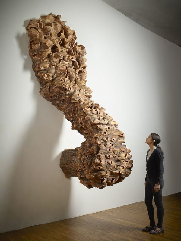 Ursula von Rydingsvard Nester, 2016 cedar 131 x 55 x 54 inches