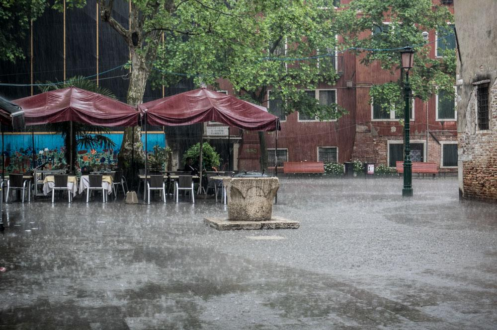 Spring weather in Venice - possible thunderstorms