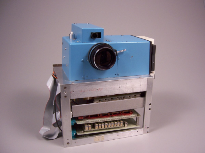 The first digital still camera constructed at Kodak Labs in 1975