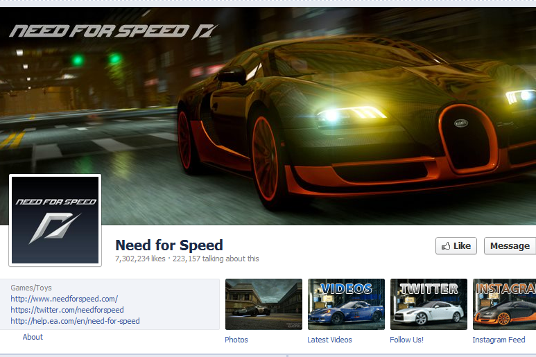 EA Australia - Need for Speed Facebook