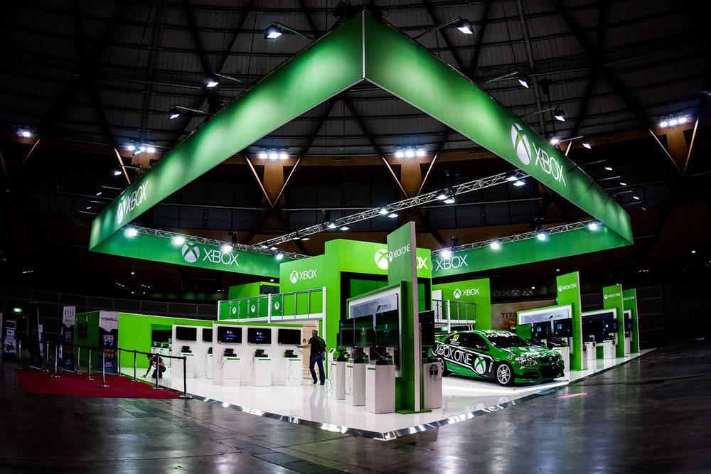 Expo Exhibition Stands Xbox One : Xbox one booth u vim media events