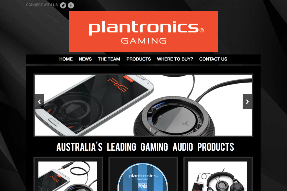 Plantronics Website