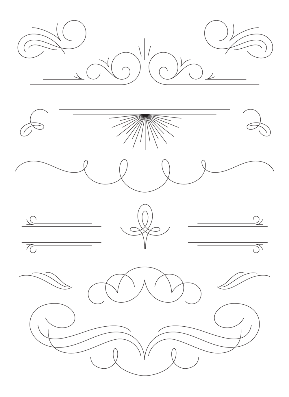 Just a few of the many flourishes included in the Fantastic Flourishes Collection.