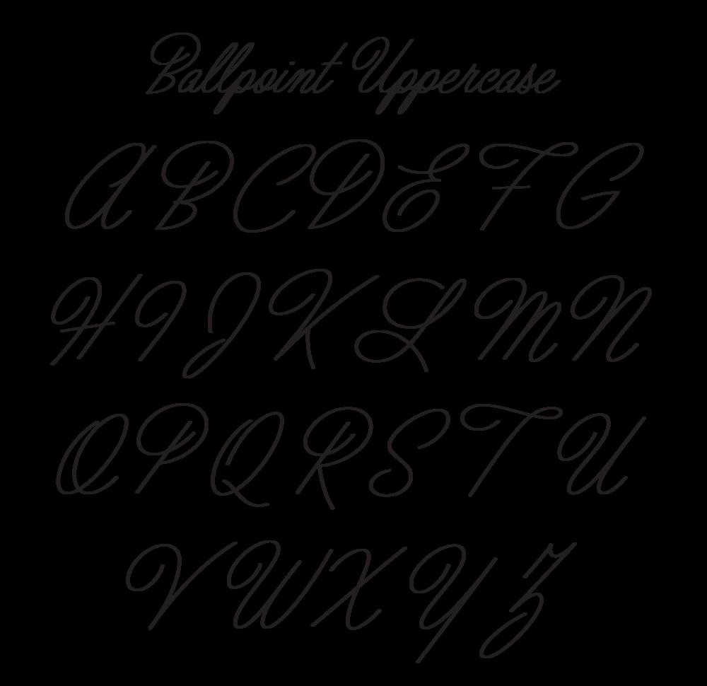 Ballpoint Script Uppercase
