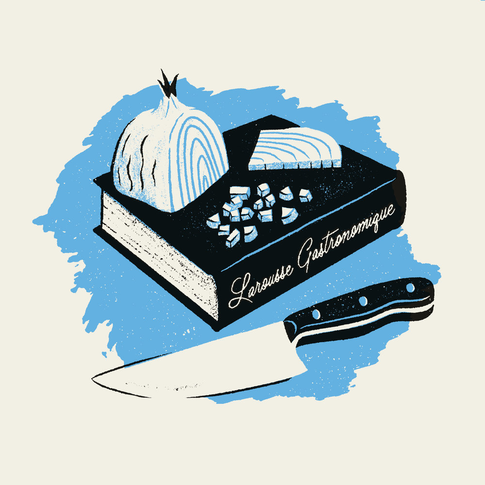 Larousse Gastronomique Cookbook - Illustration by Sean Tulgetske