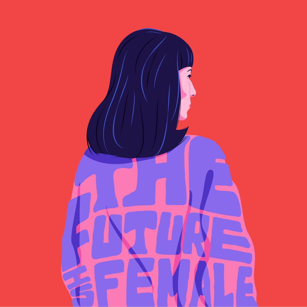 The Future Is Female - Illustration by Estudio Santa Rita