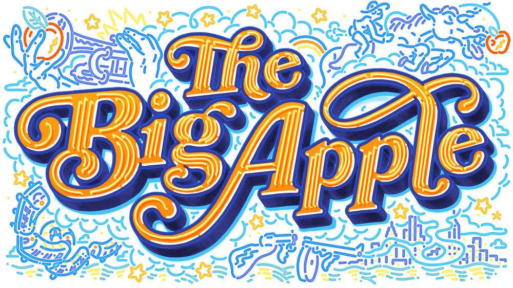 Big Apple Lettering by David Leutert