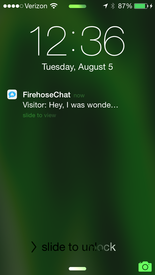 Push Notifications help you stay in the loop without having to always be at your desk.