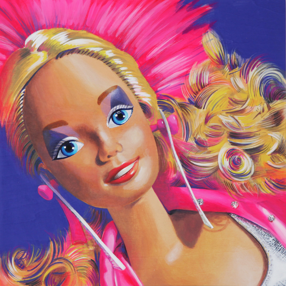 Barbie, 2015, Acrylic on wood panel