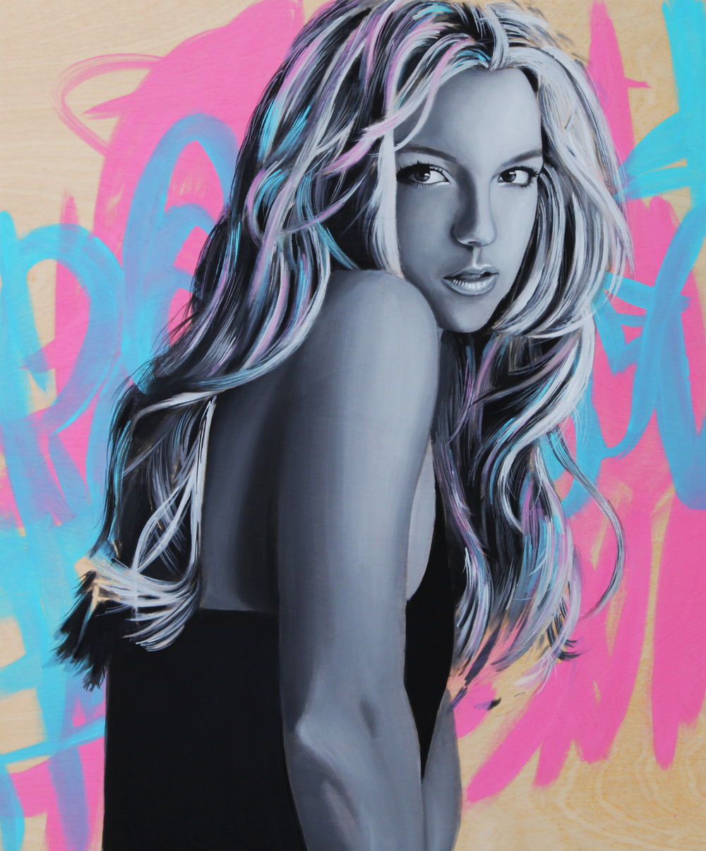 Britney, 2015, Oil on wood panel