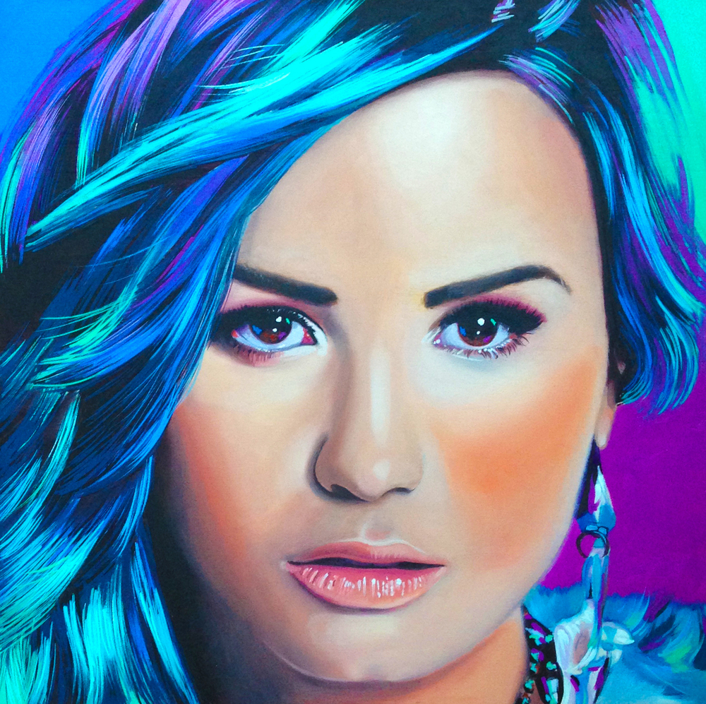 Demi, 2015, Oil on wood panel