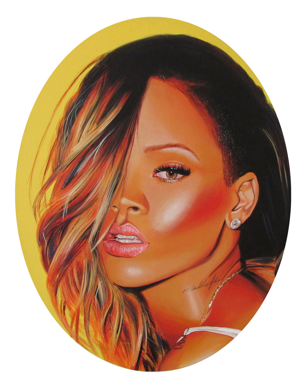 Rihanna, 2014, Acrylic on canvas