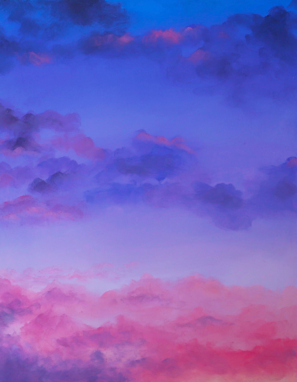 Amethyst Skies, 2017, Oil on wood panel