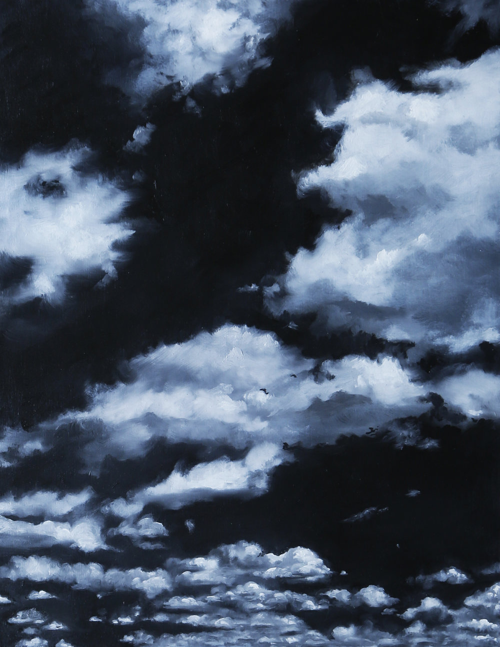 Black Tourmaline Sky, 2018, Oil on wood panel