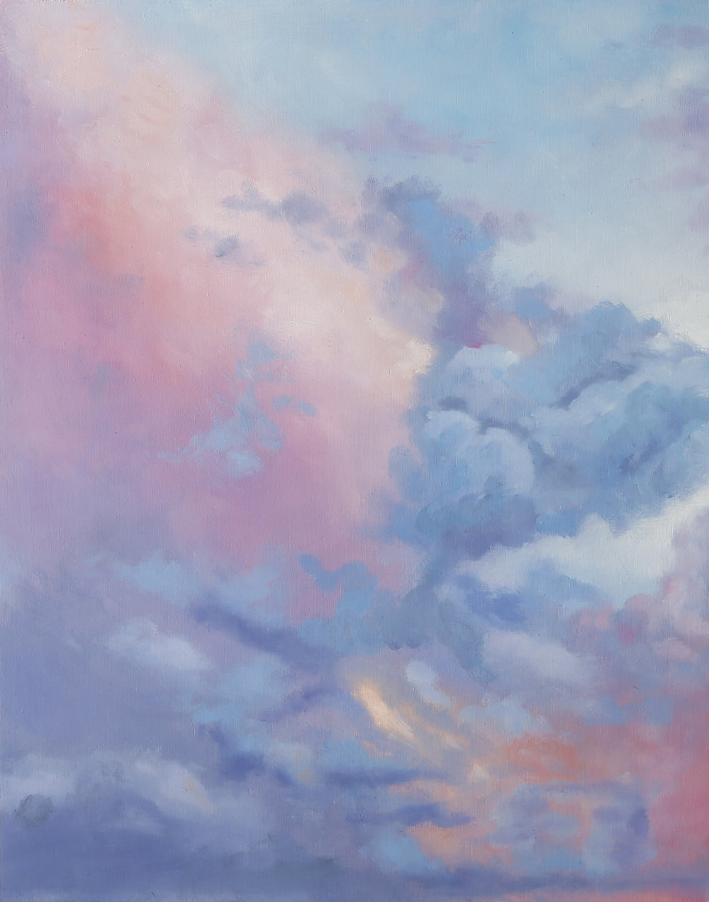 Angelite Skies, 2018, Oil on wood panel