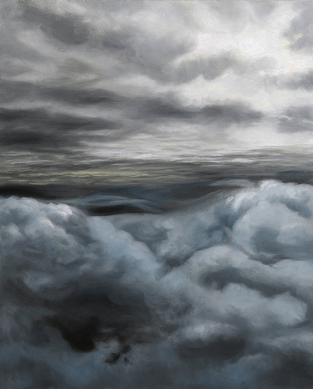 Selenite Skies, 2018, Oil on wood panel