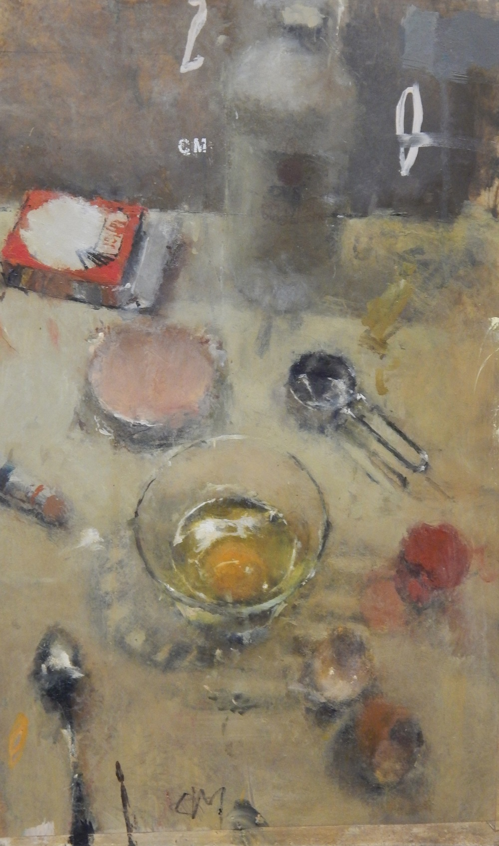 Still Life with Egg, Pork Roll and Rubbing Alcohol