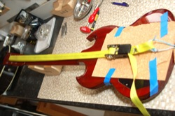 Compression Strap Clamping for Guitar Repair