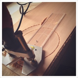 Cutting cedar to repair acoustic soundboard