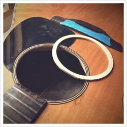 soundhole repair acoustic guitar