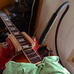 steaming off gibson neck