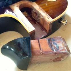 les paul neck joint repair