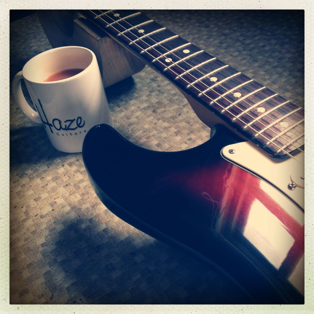 Important guitar repair tool: Tea