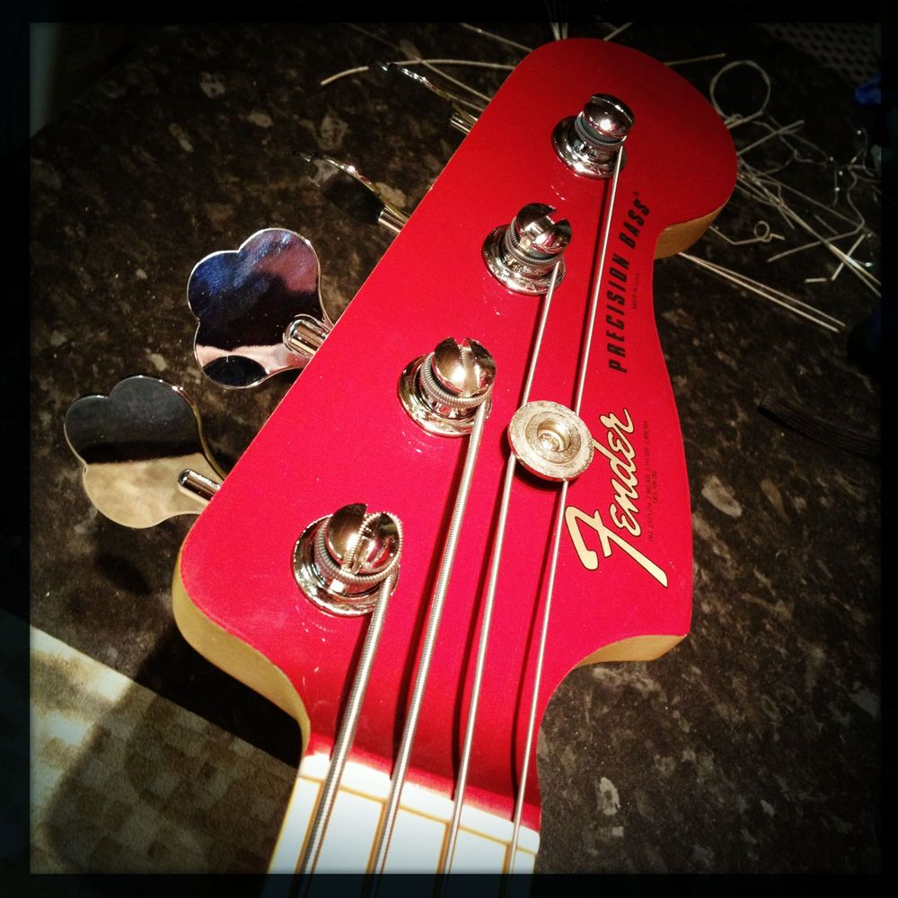 Candy apple bass refinish