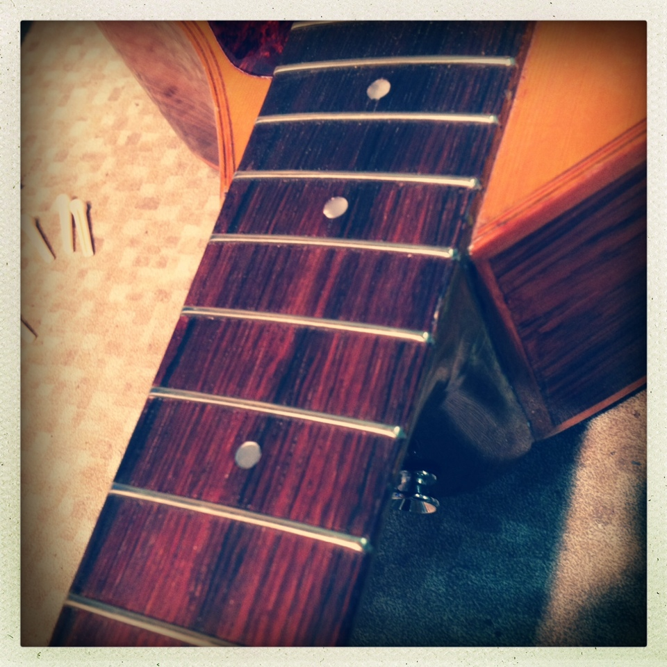 Guitar fingerboard repair