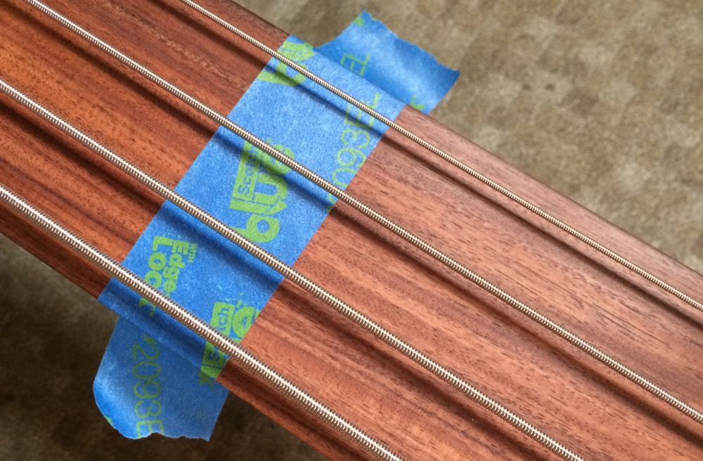 Marking 12th fret position to intonate fretless bass