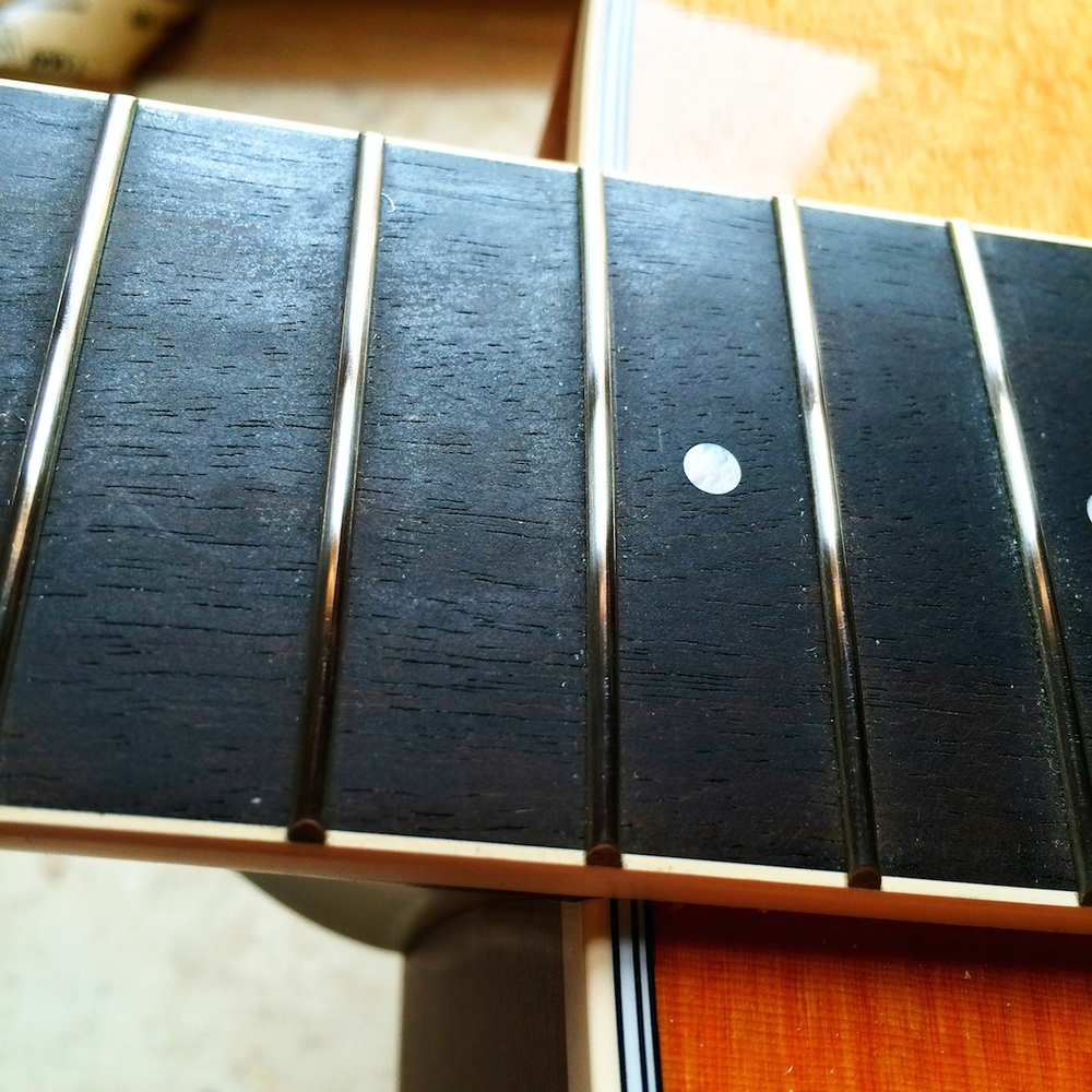After: Shiny, shiny frets