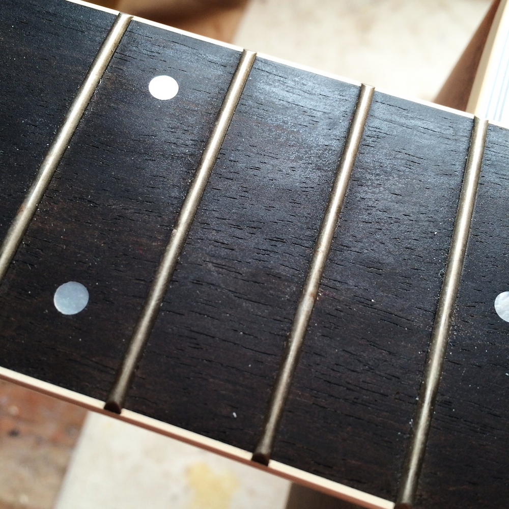 Before: Dull, dull frets