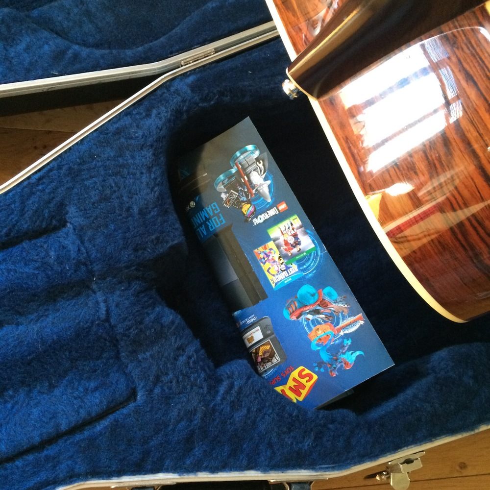 Pad under the heel area of a guitar when packing for shipping
