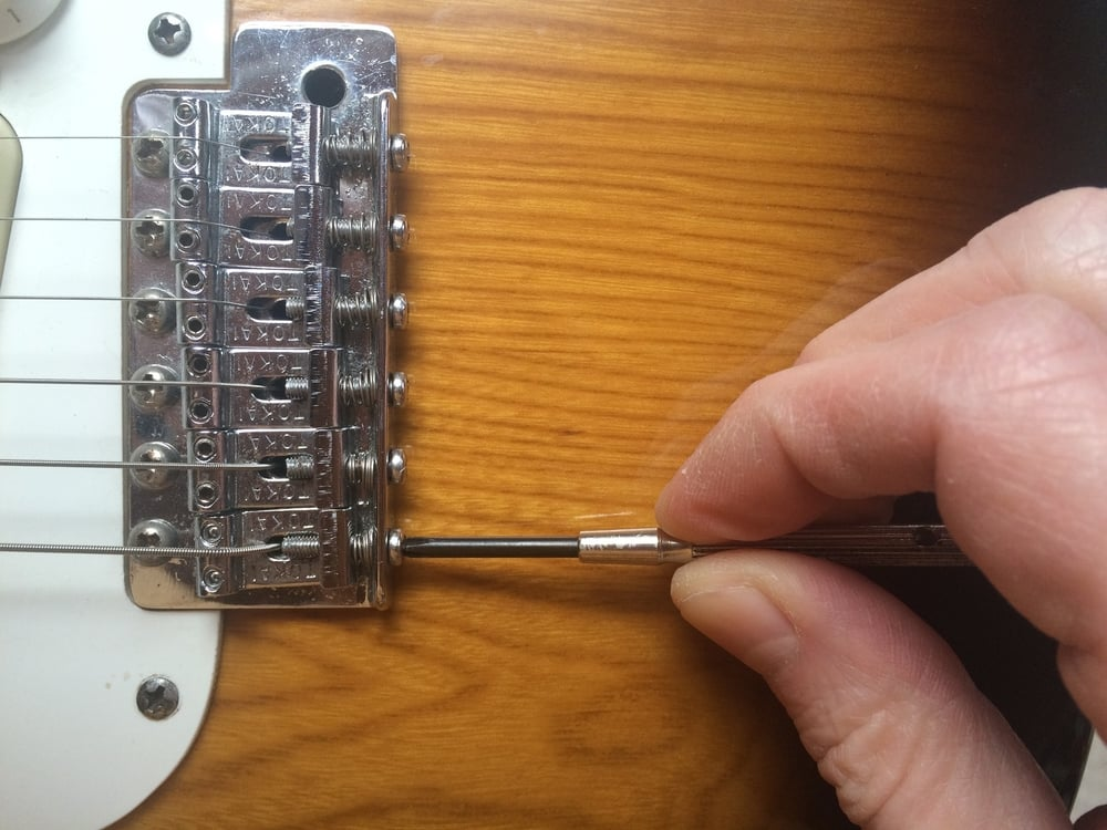 Setting the intonation on a Stratocaster