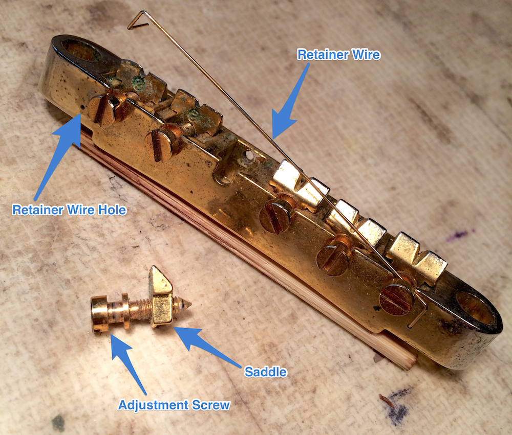 Reversing a saddle on a Gibson ABR-1 tun-o-matic bridge