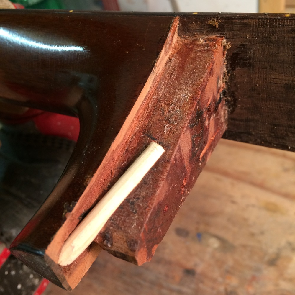 Acoustic guitar neck repair - Martin dovetail joint
