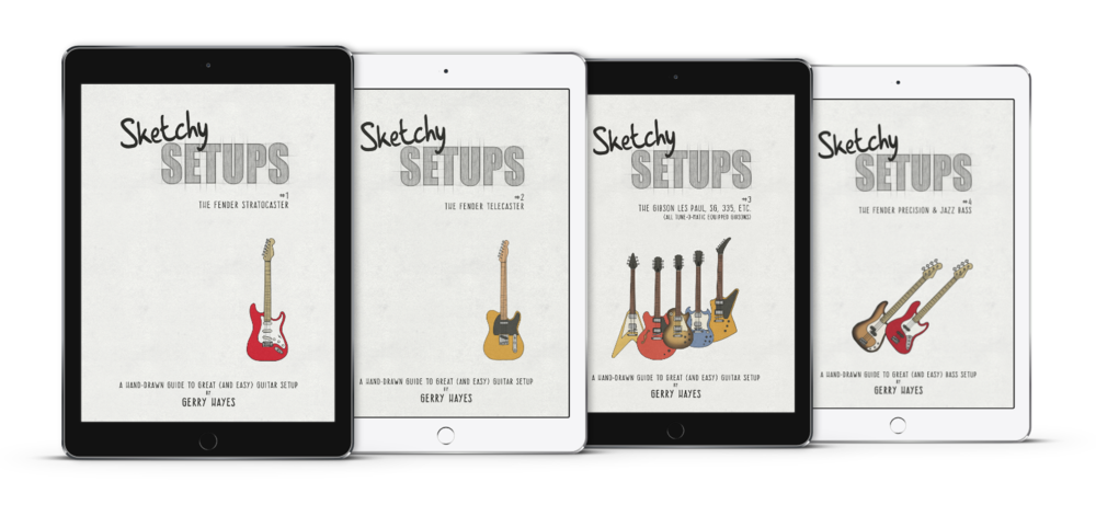 Setup Guides for Strat, Tele, Gibson Les Paul, Precision and Jazz Bass