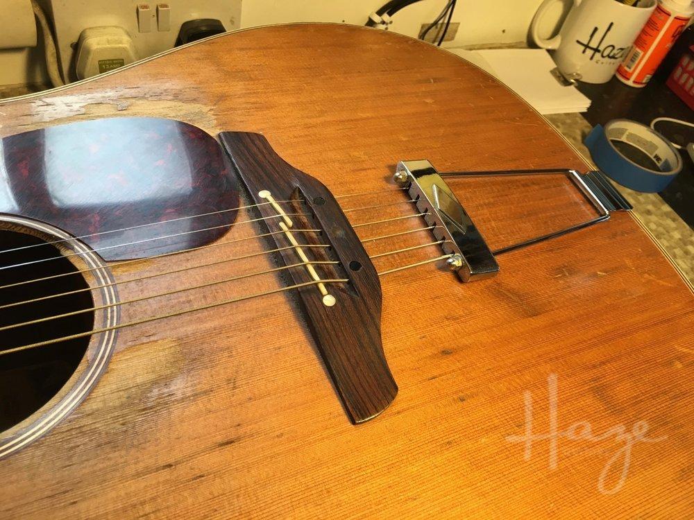 Unusual Acoustic Guitar Bridge Repair Haze Guitars
