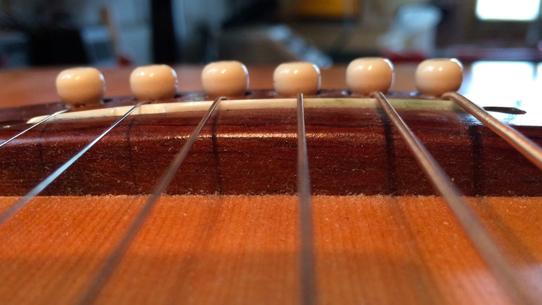 Shaving An Acoustic Guitar Bridge Haze Guitars