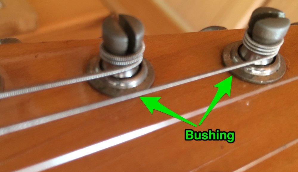 Example of bushing - tuner headstock bushing in this case