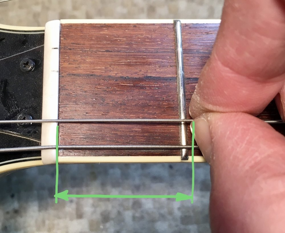 Guitar Stringing technique 3: For 5th string, pull back a little further