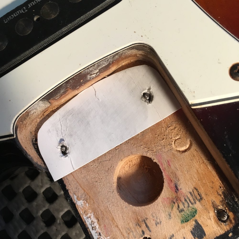 The common (and wrong!) way to shim a guitar or bass neck
