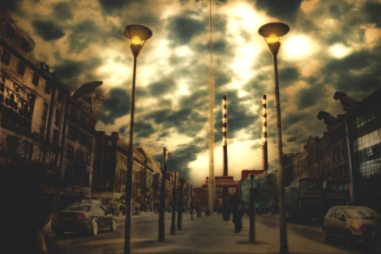 O'Connell Street Matte Painting