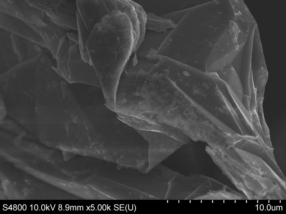 SEM of Defect free natural graphite