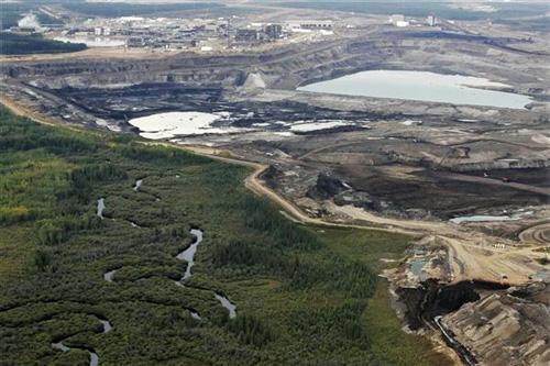 open pit mining destroys landscape