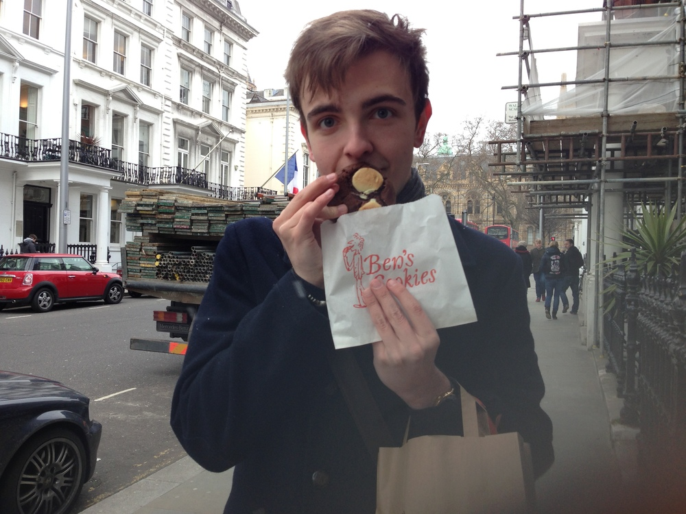Me, looking even more excited than Sarah over my cookie.