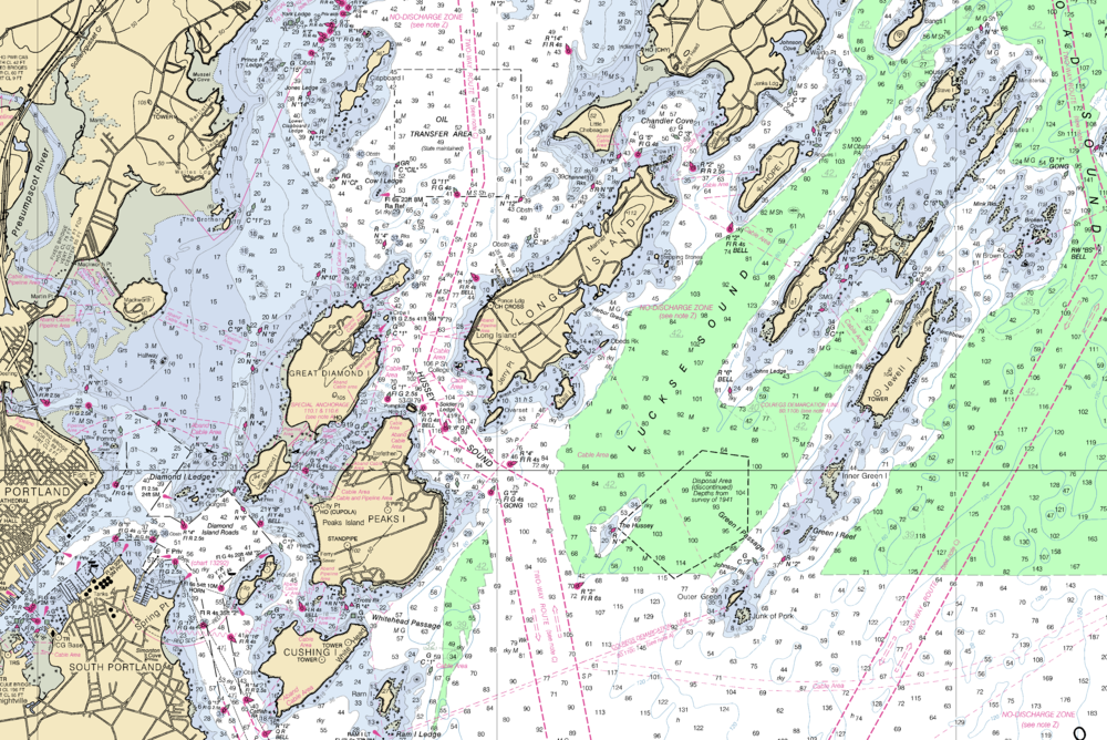 Nautical Chart of Casco Bay